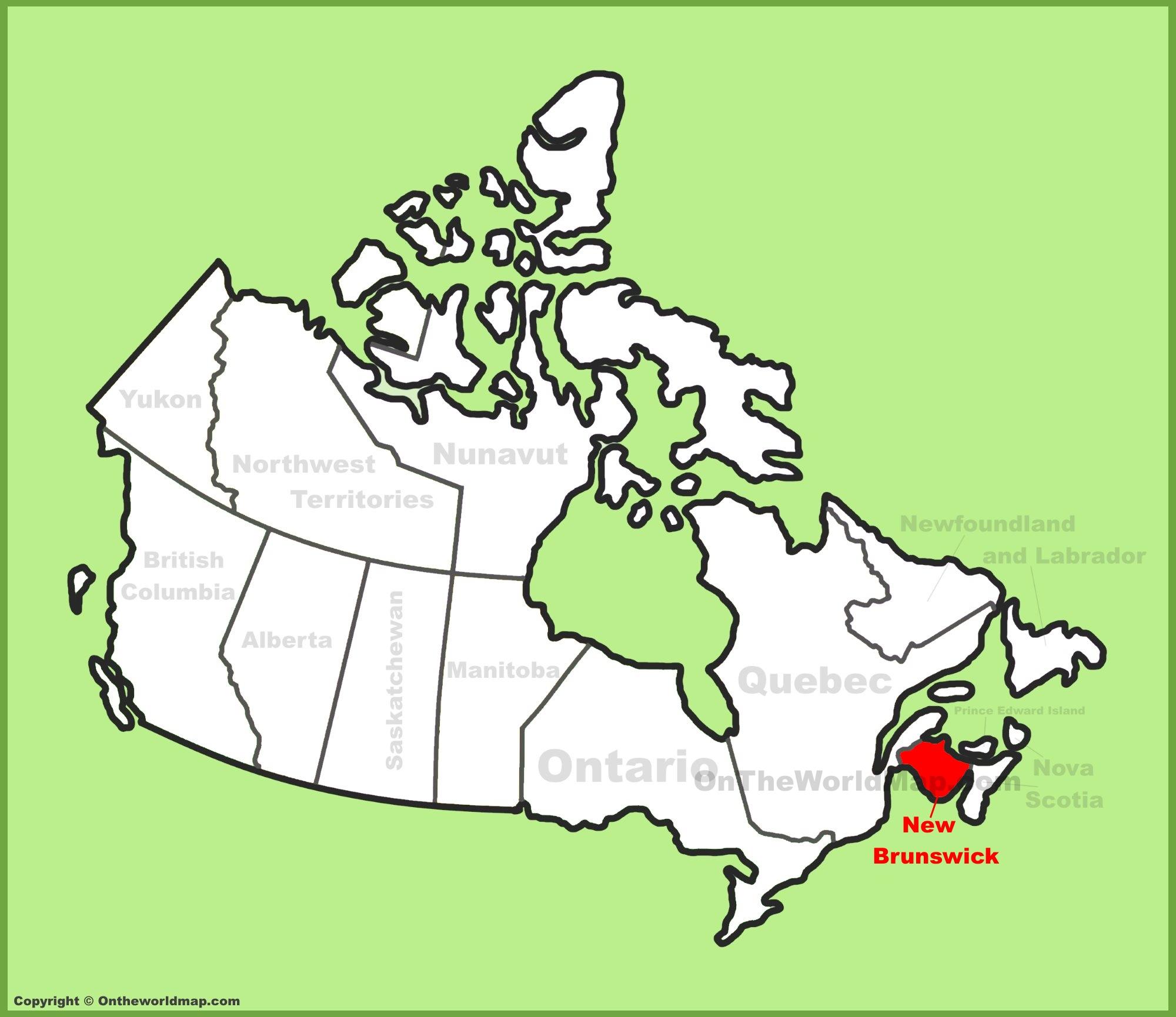 New Brunswick Canada Map New Brunswick Maps | Canada | Maps of New Brunswick (NB)