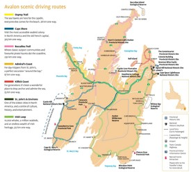 Avalon scenic driving routes map