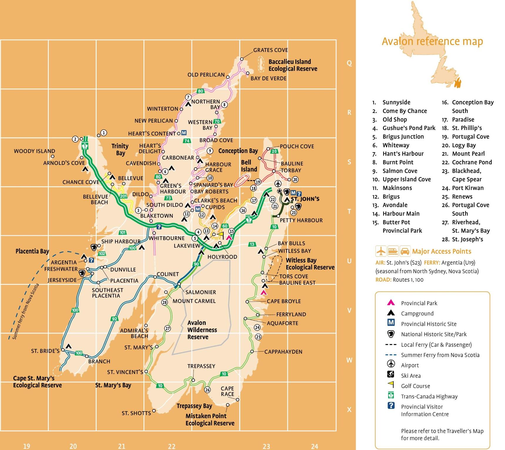 Avalon tourist map