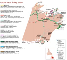 Central Newfoundland scenic driving routes map