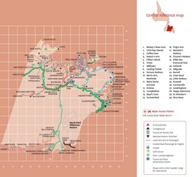 Central Newfoundland tourist map