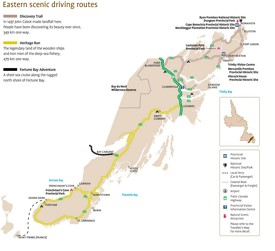 Eastern Newfoundland scenic driving routes map