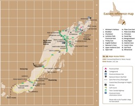 Eastern Newfoundland tourist map