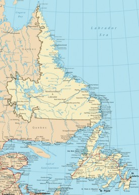 Newfoundland and Labrador road map