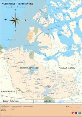 Northwest Territories Maps  Canada  Maps of Northwest