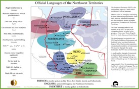 Northwest Territories official languages map