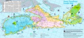 Large detailed tourist map of Nova Scotia