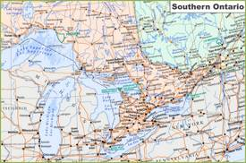 Map of Southern Ontario