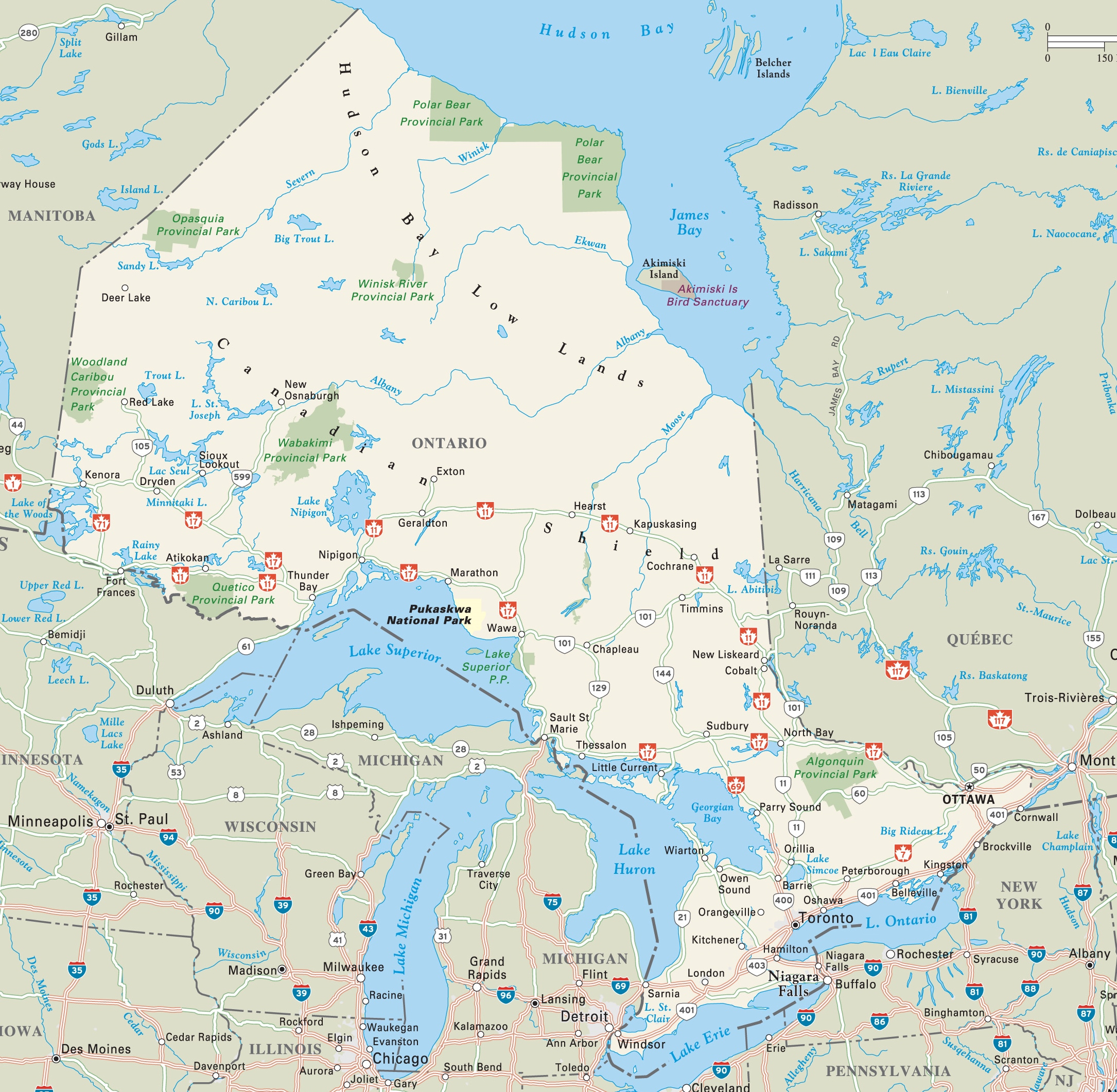 Ontario Province Maps Canada Maps Of Ontario ON ONT - Map of ontario canada