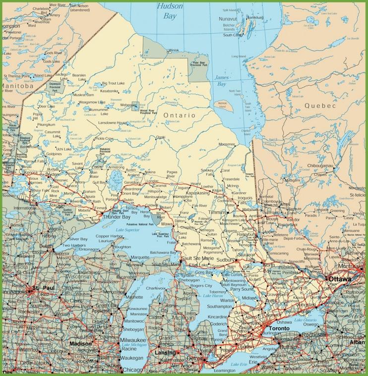 Road Map Of Quadra Island – Driving Map of Canada