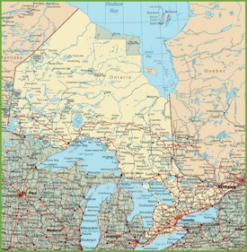 Ontario road map