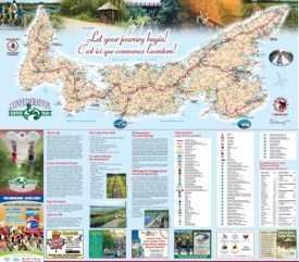 Prince Edward Island tourist map