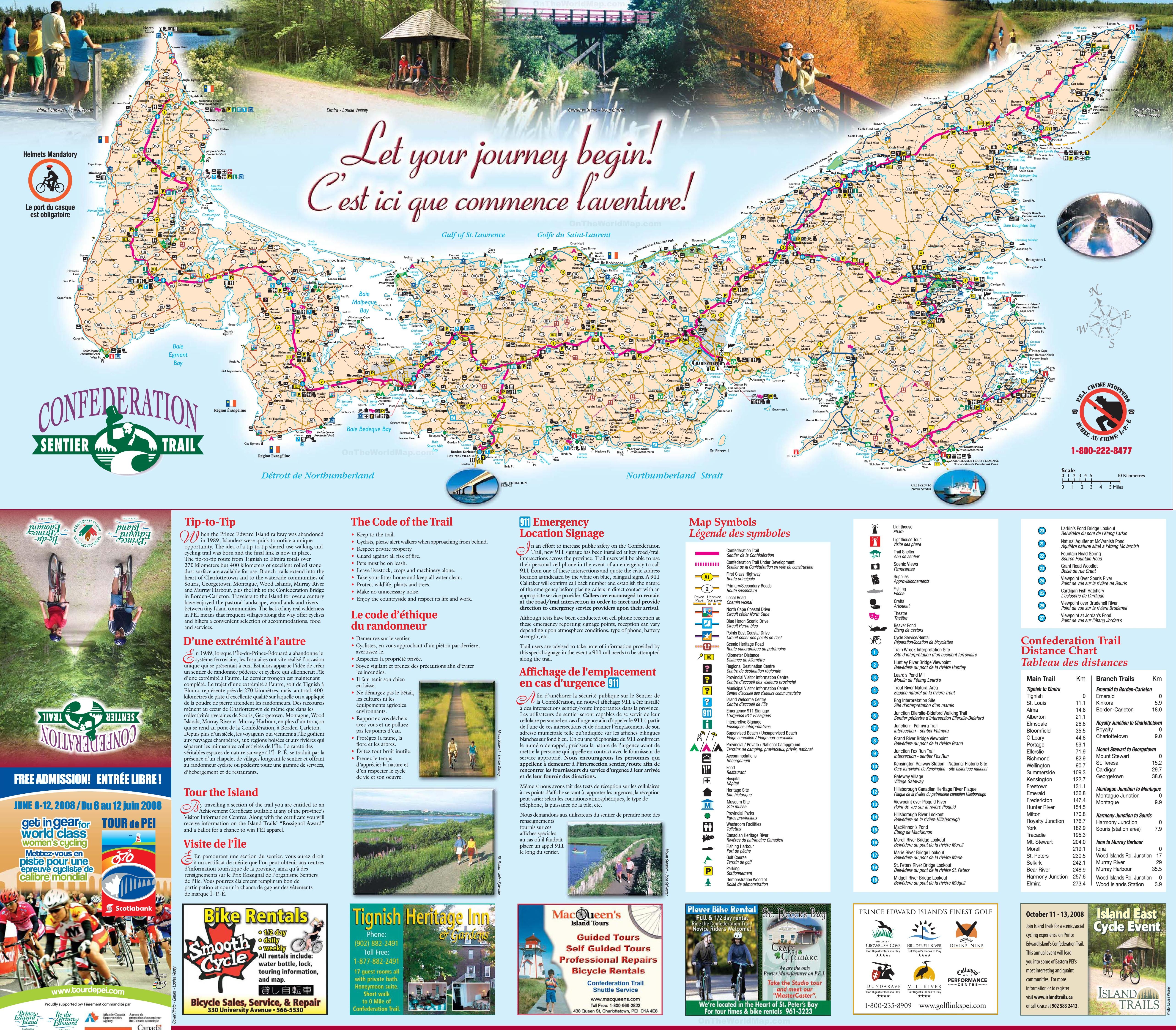 Prince Edward Island tourist map
