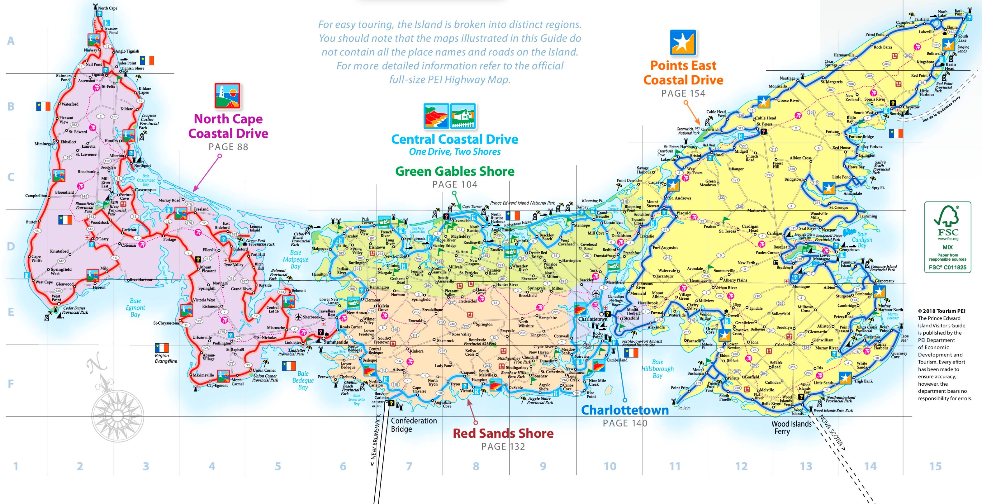 Detailed Map Of Prince Edward Island Prince Edward Island road map