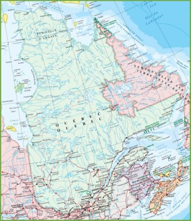 Large detailed map of Quebec