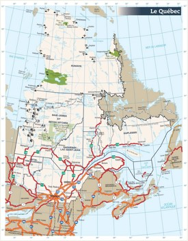Quebec road map