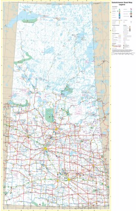 Large detailed tourist map of Saskatchewan with cities and towns