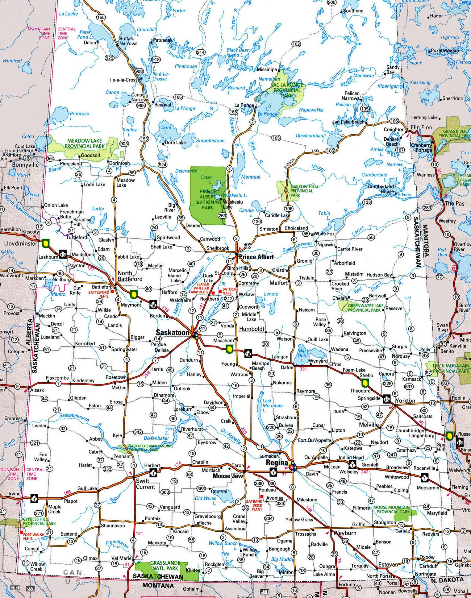 Saskatchewan Highway Map