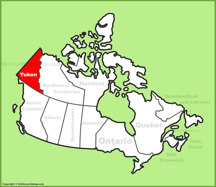 Yukon maps canada maps of yukon territory full size yukon location map gumiabroncs Image collections