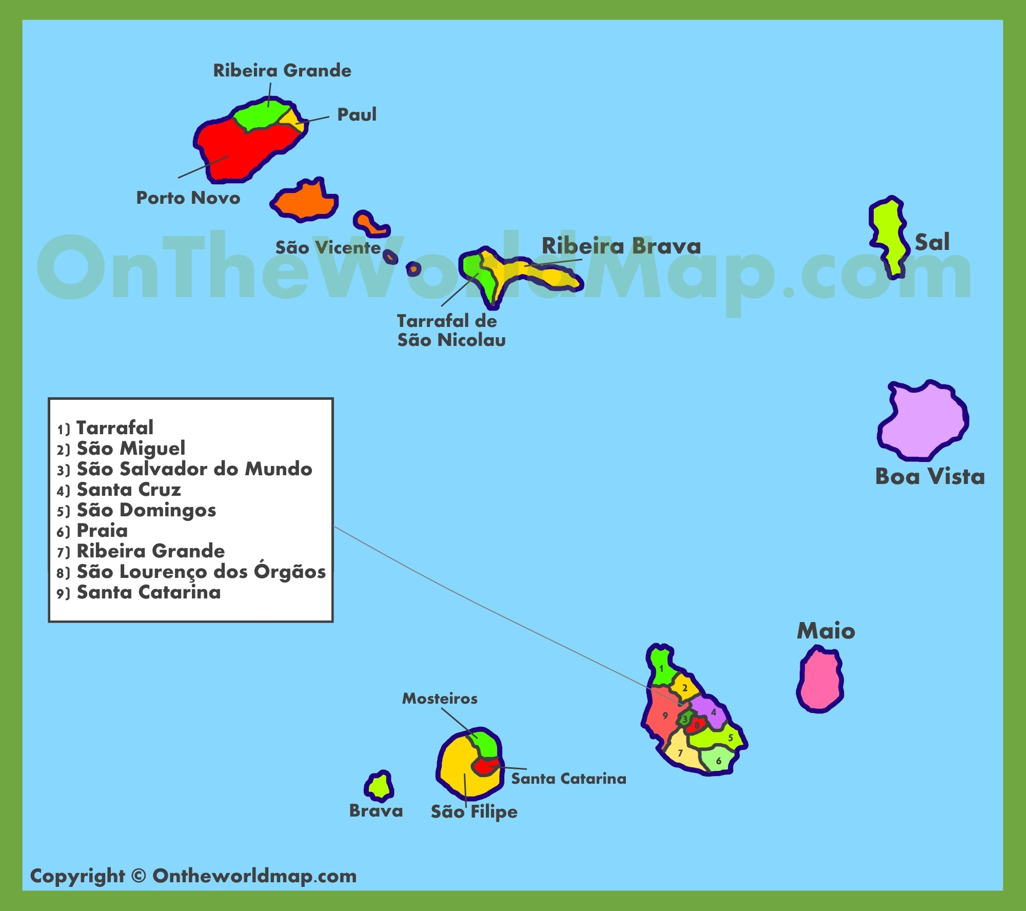 Cape Verde Maps Maps Of Cape Verde Cabo Verde - Cape verde map