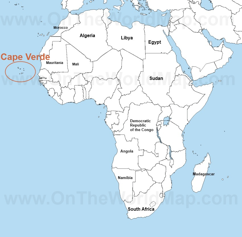 Cape Verde Gold Mikeosbornphoto - Cape verde map