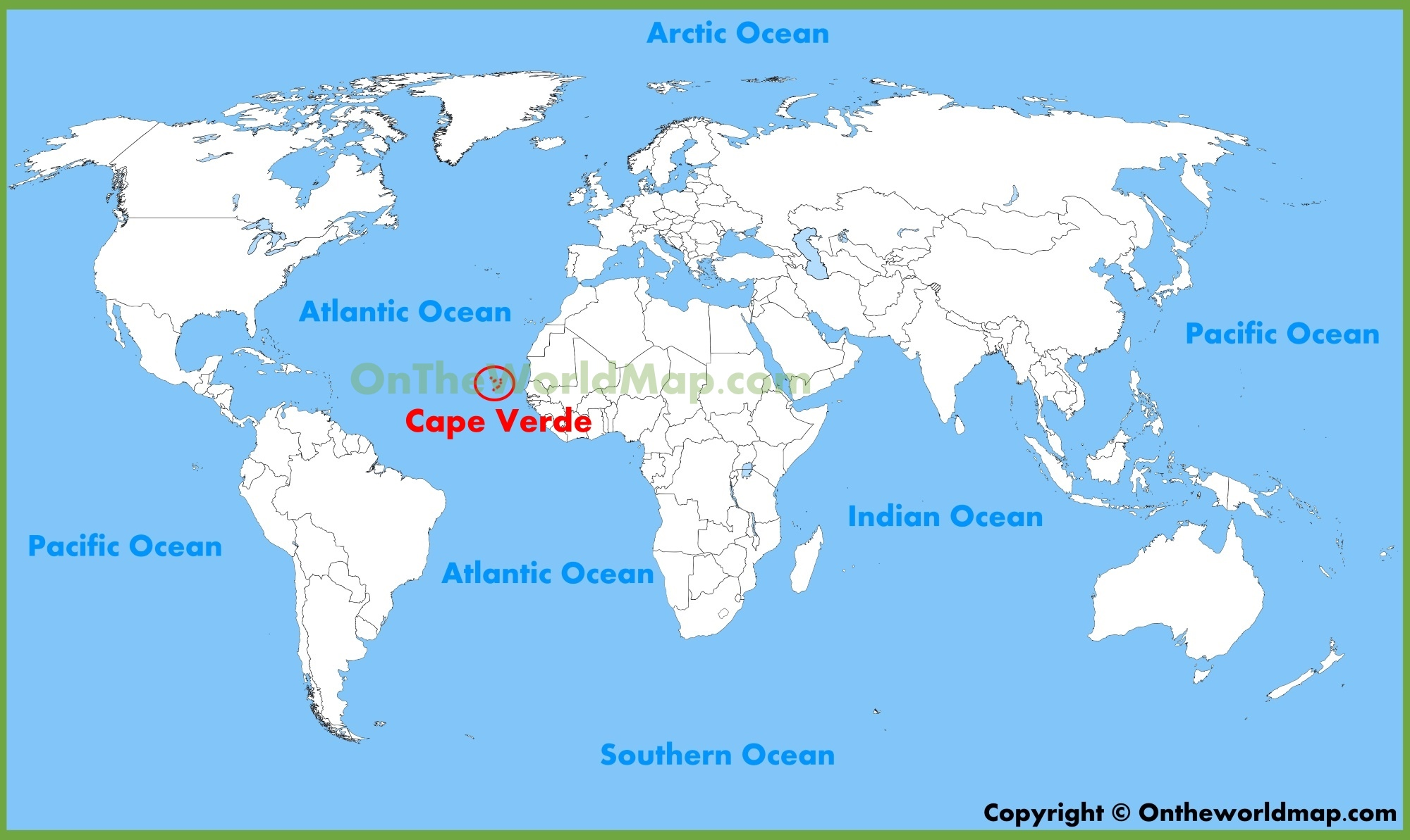 Cape Verde On Map Cape Verde Location Map