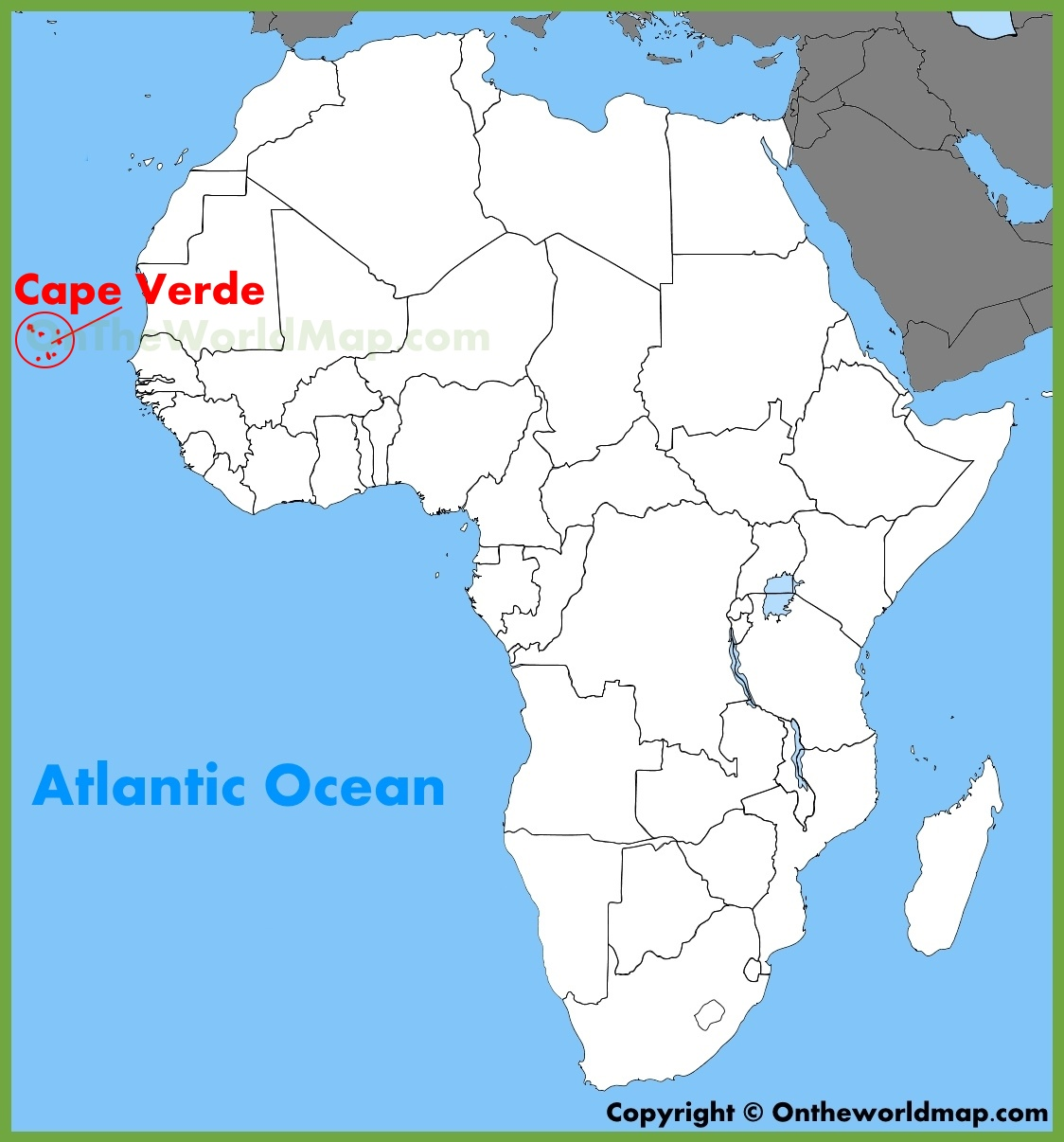 Cape Verde location on the Africa map