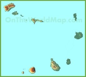 Topographical map of Cape Verde
