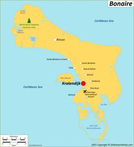 Map of Bonaire