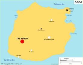 Map of Saba