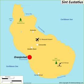 Map of Sint Eustatius
