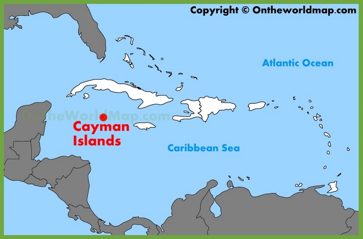 Cayman Islands location on the Caribbean map
