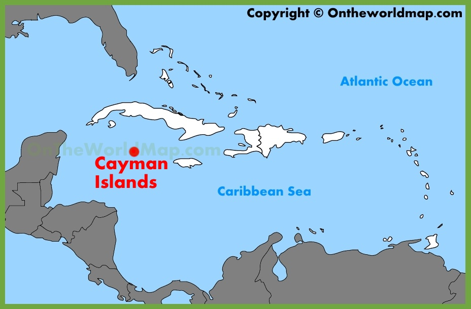 Cayman Islands Map Cayman Islands location on the Caribbean map Cayman Islands Map