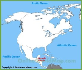 Cayman Islands location on the North America map