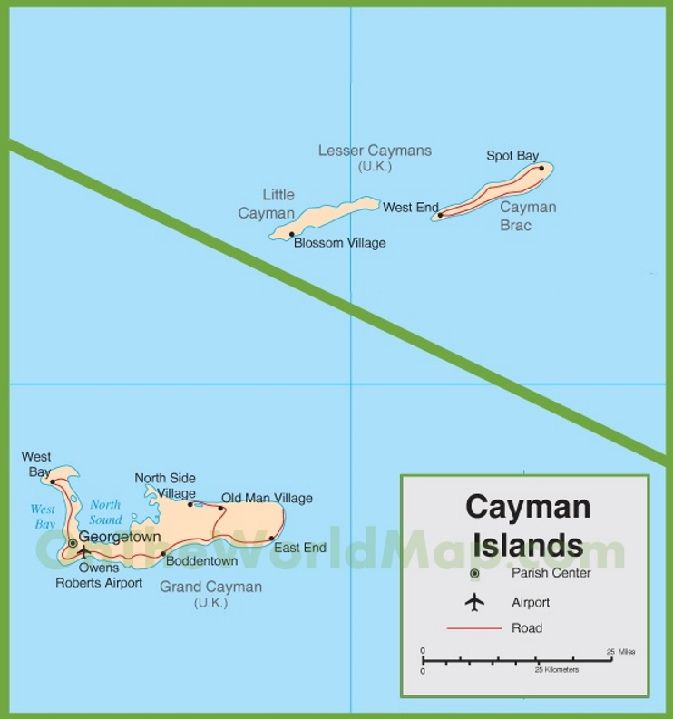 Cayman Islands road map