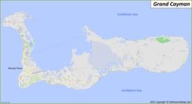 Map of Grand Cayman