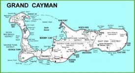 Large detailed Grand Cayman map