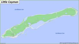 Map of Little Cayman