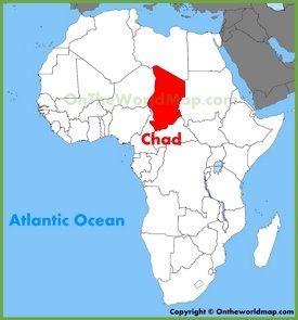 Chad location on the Africa map