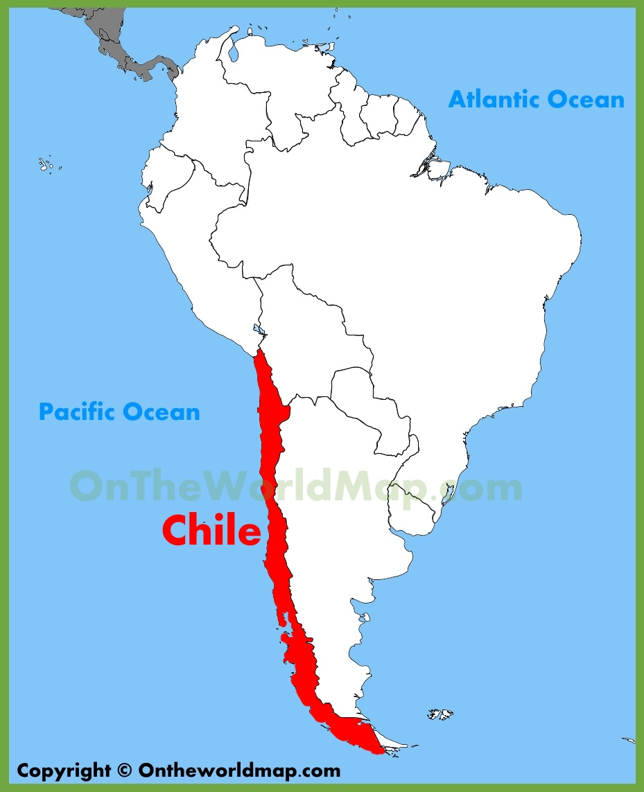 Map Of Chile South America Chile location on the South America map Map Of Chile South America