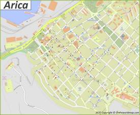 Arica City Center Map