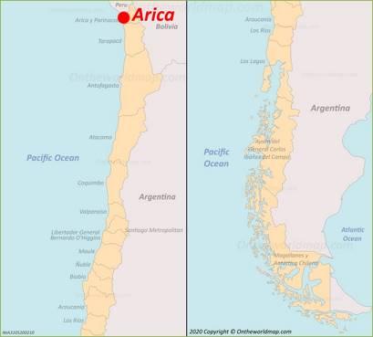 Arica Location Map
