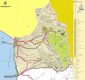 Arica y Parinacota Tourist Map