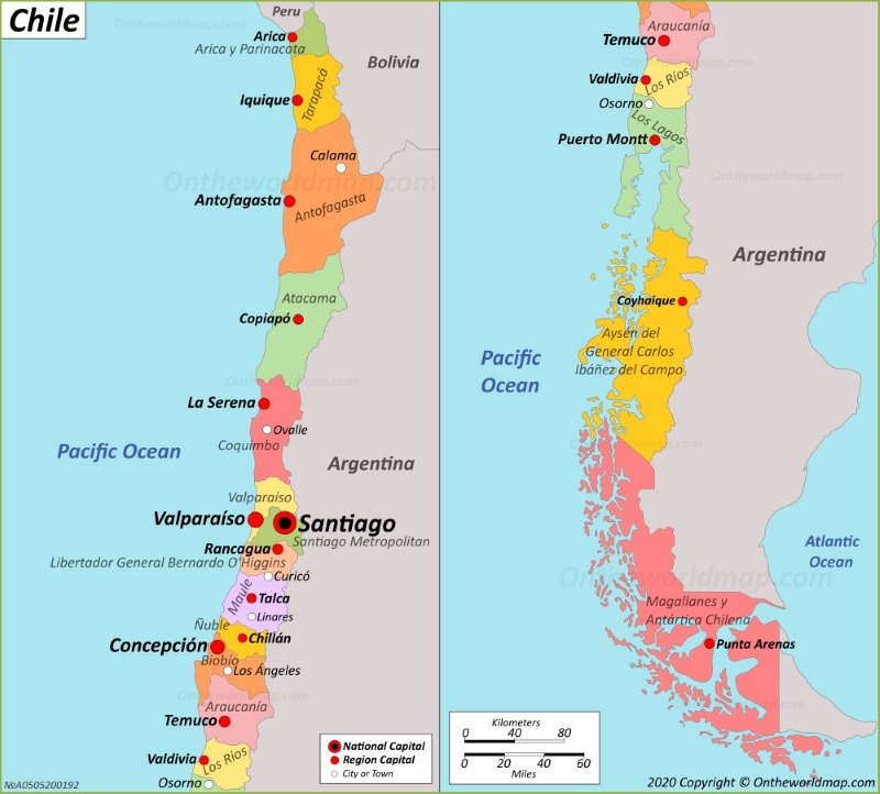 a map of chile Chile Map Maps Of Chile a map of chile