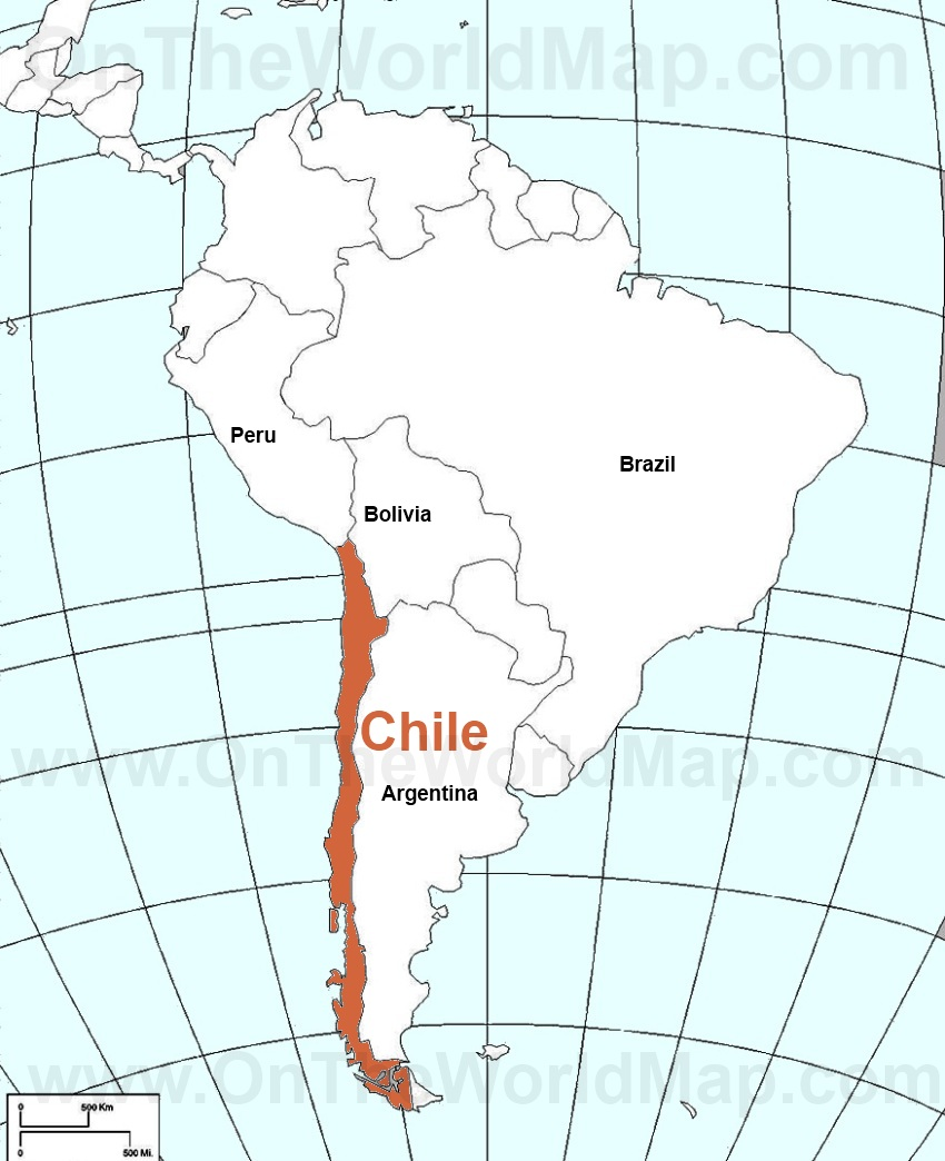 Chile Map South America Chile on The South America Map