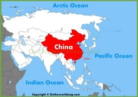 China location on the Asia map