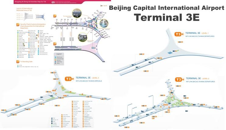 Beijing Capital International Airport terminal 3E map