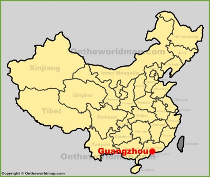 Guangzhou Location Map