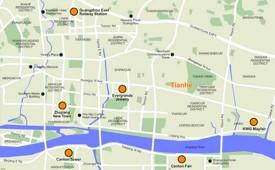 Guangzhou Tianhe map