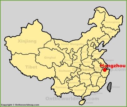 Hangzhou Location Map